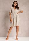 Beżowa Sukienka Aqealila