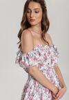 Biało-Różowa Sukienka Doriavere