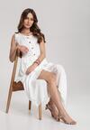 Biała Sukienka Aeregana