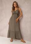 Ciemnozielona Sukienka Poreithera