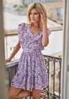 Fioletowa Sukienka Aegavere