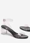 Czarne Transparentne Sandały Idamellia