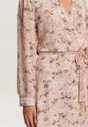 Biało-Beżowa Sukienka Guinerinia