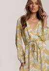 Biało-Żółta Sukienka Guinerinia