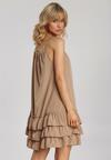 Ciemnobeżowa Sukienka Adrilora