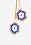 Złoto-Niebieskie Kolczyki Acalenisse