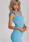 Niebieska Sukienka Echilyse