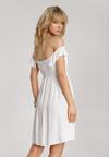 Biała Sukienka Abalaeno