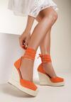 Pomarańczowe Sandały Corealia
