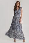 Granatowa Sukienka Pasiles