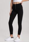Czarne Spodnie Skinny Pisironis