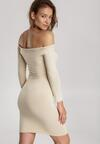 Jasnobeżowa Sukienka Adriesana