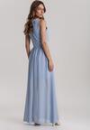 Niebieska Sukienka Helisine