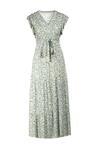 Biało-Zielona Sukienka Callara