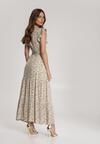 Biało-Beżowa Sukienka Callara