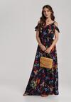 Granatowa Sukienka Menilina