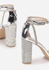Srebrne Transparentne Sandały Rhethera