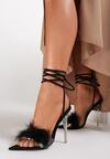 Czarne Sandały Laraireida