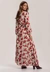 Kremowo-Bordowa Sukienka Guinerinias