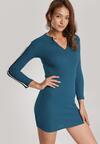 Niebieska Sukienka Daphpeia