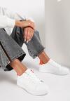 Biało-Pomarańczowe Sneakersy Heliteia