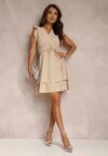 Jasnobeżowa Sukienka Ivetta