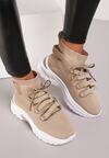 Beżowe Sneakersy Kayla