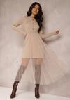 Beżowa Sukienka Thenella