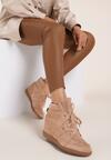 Beżowe Sneakersy Mhyreth