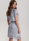 Niebieska Sukienka Abameine