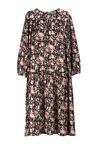 Czarno-Różowa Sukienka Ivietta