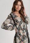 Czarno-Beżowa Sukienka Glyslisa