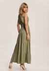 Ciemnozielona Sukienka Aeregana