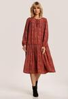 Granatowo-Beżowa Sukienka Ynisiana
