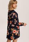 Granatowo-Beżowa Sukienka Shirintia