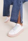 Biało-Różowe Sneakersy Iphisess