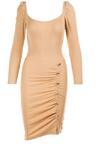 Jasnobeżowa Sukienka Vhesyra