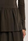Khaki Sukienka Dzianinowa Fharvix