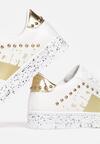 Biało-Złote Sneakersy Shylith