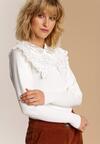 Biały Sweter Meridnell