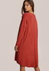 Ceglasta Sukienka Penoth