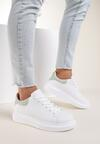 Biało-Miętowe Sneakersy Drenless