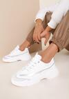Biało-Srebrne Sneakersy Viliniesh