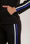 Czarno-Niebieski Komplet Dresowy Krynnys