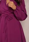 Ciemnofioletowa Sukienka Eilceran