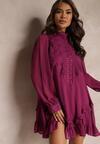 Fioletowa Sukienka Rislea