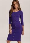 Fioletowa Sukienka Mezyera
