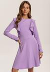 Lawendowa Sukienka Uhrlenne