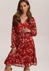 Bordowa Sukienka Cahreth