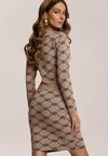 Beżowa Sukienka Shyoria